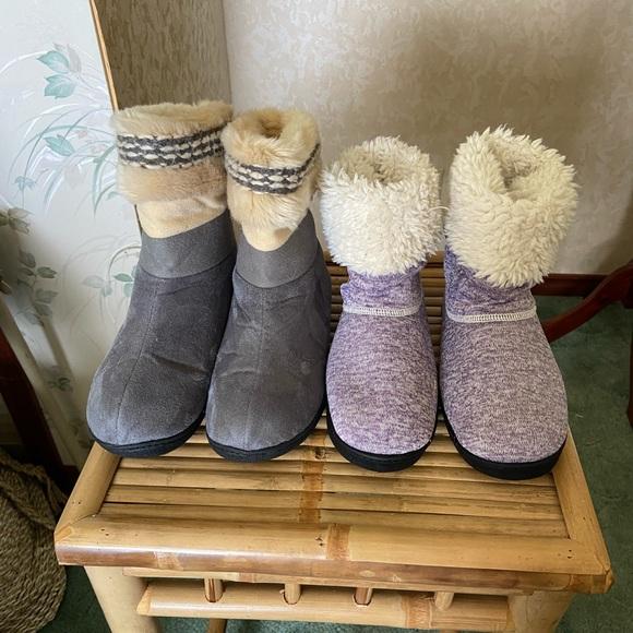 2Pair Isotoner Slippers